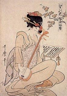 Japanese lute