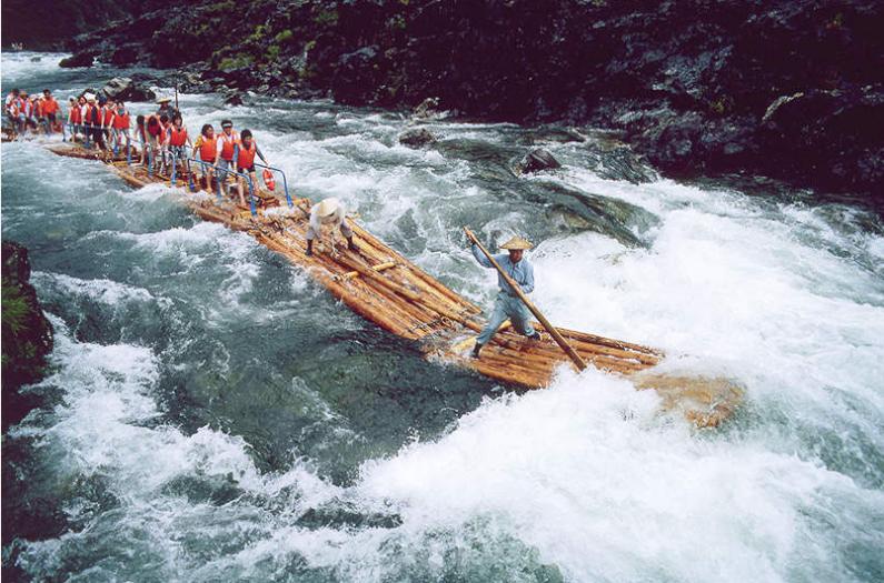log rafting